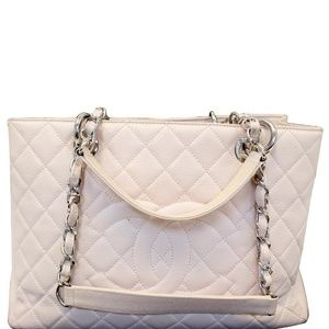 CHANEL GRAND SHOPPING CAVIAR LEATHER TOTE SHOULDER